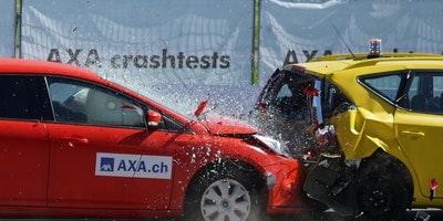 image of two car crash